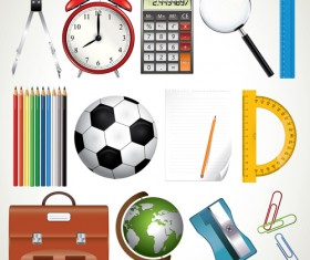 office Tool and school elements icon vector 01