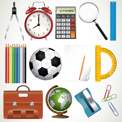 Office tool and school elements icon vector 01 other for Free online office design tool