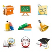 Link toOffice tool and school elements icon vector 04