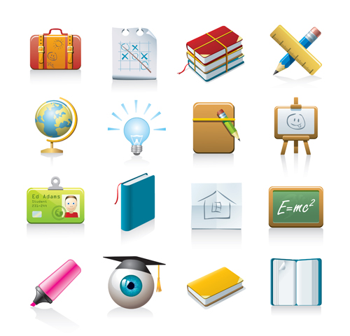office Tool and school elements icon vector 05 free download