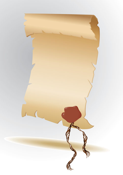 Set of old parchment Scrolls vector 01