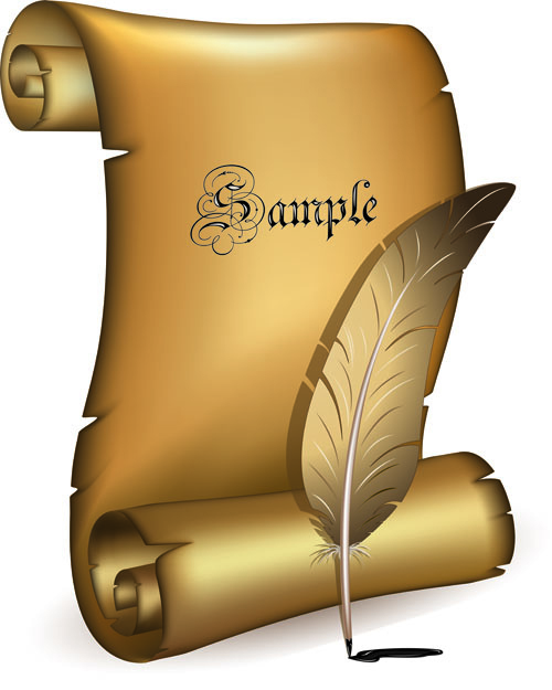 Set of old parchment Scrolls vector 03 - Vector Other free download