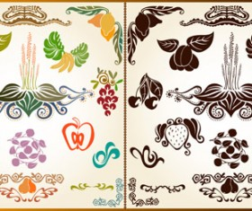 Various Plant Decoration pattern vector 01