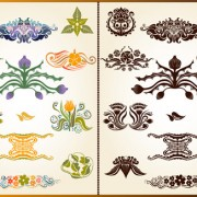 Link toVarious plant decoration pattern vector 03
