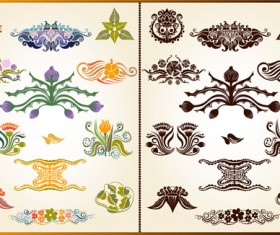 Various Plant Decoration pattern vector 03