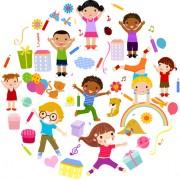 Link toPlaying children cartoon vector set 04