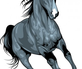 Different Running horses vector 01