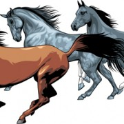 Link toDifferent running horses vector 03