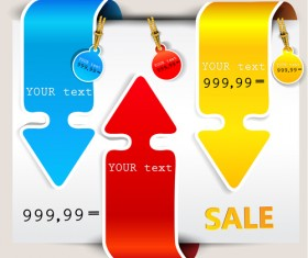 Different sale label stickers vector 03
