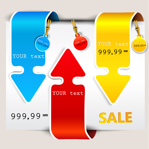 Different sale label stickers vector 03 - Vector Label free download