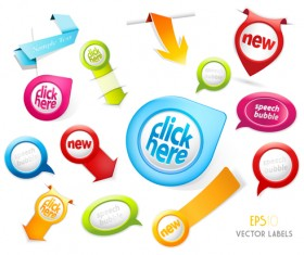 Different sale label stickers vector 05