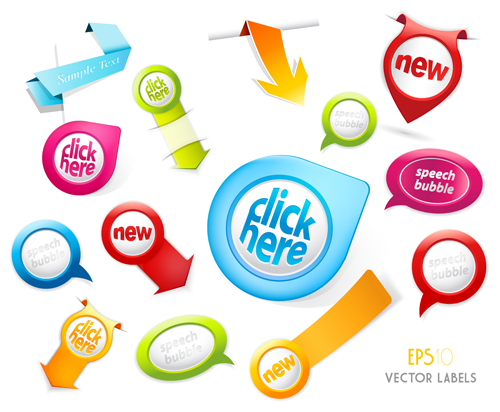 Different sale label stickers vector 05 - Vector Label free download
