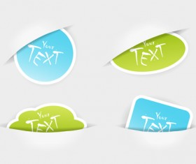 Sale and eco Stickers vector set 03
