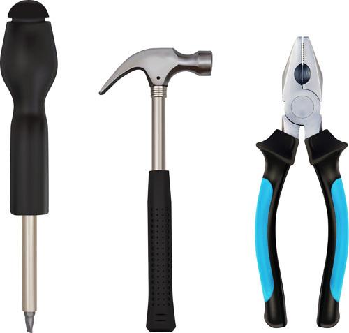 Various Building Tools Elements Vector Set 02 Vector