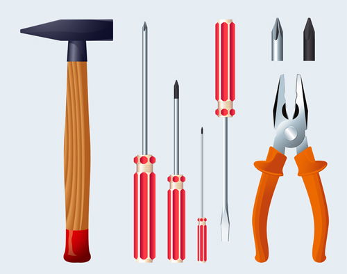 various of life tool vector set 02 free download