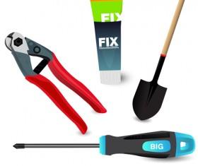 Various of life tool vector set 06