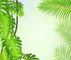 Elements of Tropical Scenery background vector 04