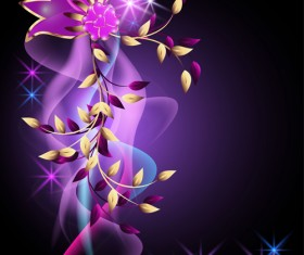 Beautiful Flowers elements background vector 04