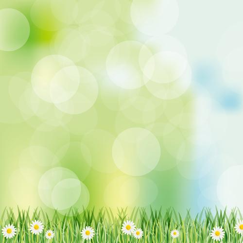 Vivid Spring Elements Vector Background 01