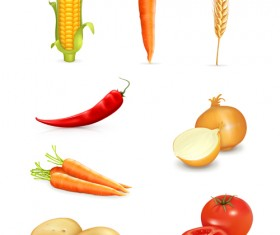 Set of Different Vegetable mix vector 03