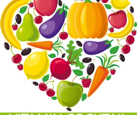 Set of Different Vegetable mix vector 04