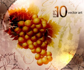 Elements of Vintage background with flowers vector graphics 03