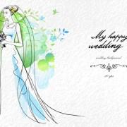 Link toRomantic wedding elements backgrounds vector 02