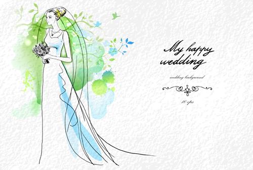 Wedding invitation background designs free download green 2.