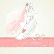 Link toRomantic wedding elements backgrounds vector 03