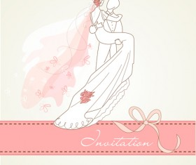 Romantic Wedding elements Backgrounds vector 03