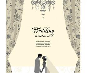 Romantic Wedding elements Backgrounds vector 04