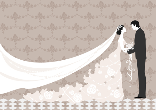 Wedding label background vector pack ai, svg, eps vector free.