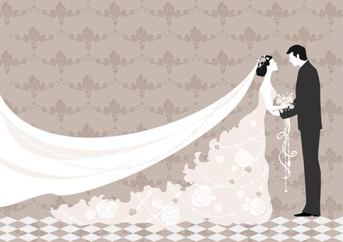 Romantic Wedding elements Backgrounds vector 05 - Vector ...