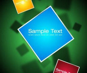 Elements of 3d objects vector background set 05