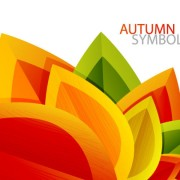 Link toAutumn leaves elements background vector set 01