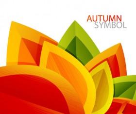 autumn leaves elements background vector set 01