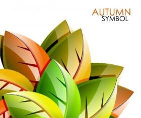 autumn leaves elements background vector set 02