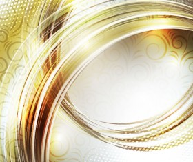 gold Waves vector background 01