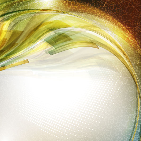 Gold Waves Vector Background 03