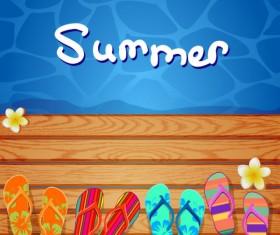 Different Summer Seaside elements vector set 03