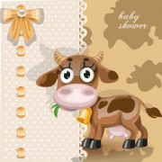 Link toCute cartoon animal cards design vector 03