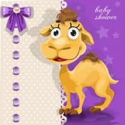 Link toCute cartoon animal cards design vector 04