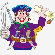 Link toFunny pirate cartoon vector graphic 03