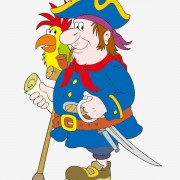 Link toFunny pirate cartoon vector graphic 05