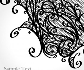 Set of Old lace vector background art 01