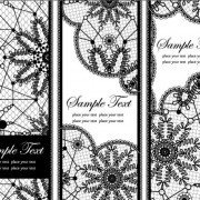 Link toSet of old lace vector background art 02