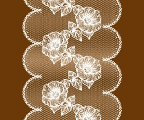 Set of Old lace vector background art 03