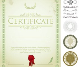 Exquisite Certificate cover templates vector set 04