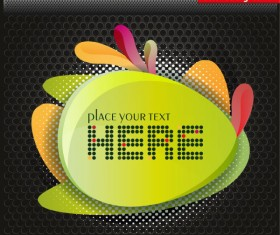 Colorful background with Shiny label vector graphic 01