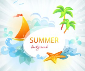 Summer travel in tropical design elements vector 03